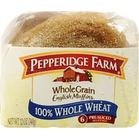 Pepperidge Farm Whole Wheat English Muffins Food Product Image