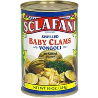 Sclafani Shelled Baby Clams in Salted Water Food Product Image