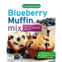 Concord Foods Blueberry Muffin Mix Food Product Image