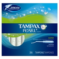 Tampax Pearl Unscented Super Tampons - 36 CT Food Product Image