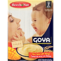 Beech-Nut Goya Rice With Mango Baby Cereal Food Product Image