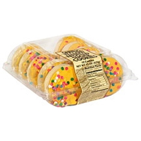Safeway Spring Yellow Frosted Sugar Cookies Food Product Image