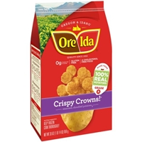 Ore-Ida Seasoned Shredded Potatoes Crispy Crowns! Food Product Image