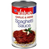 Kroger Spaghetti Sauce Garlic & Herb Food Product Image