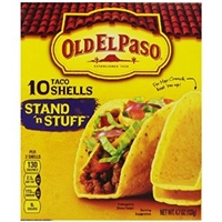 Old El Paso Stand 'N Stuff Taco Shells - 10 Ct Food Product Image