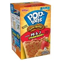 Pop-Tarts Gone Nutty PB & J Strawberry 6 ct 10.5 oz Food Product Image