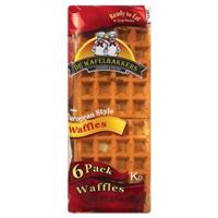 De Wafelbakkers Waffles European Style - 6 PK Food Product Image