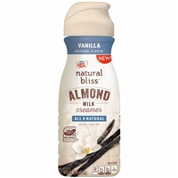 Nestle Coffeemate Natural Bliss Almond Milk Coffee Creamer Vanilla Flavor Food Product Image