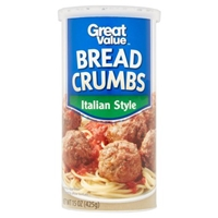 Great Value Bread Crumbs Italian Style Food Product Image