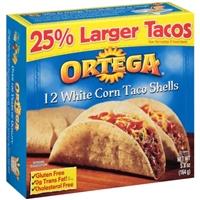 Ortega White Corn Taco Shells - 12 CT Food Product Image