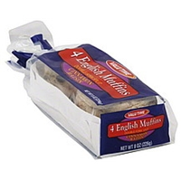 Valu Time English Muffins Double Fork Split, Cinnamon Raisin Food Product Image