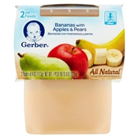 Gerber Bananas with Apples & Pears 2nd Foods Food Product Image