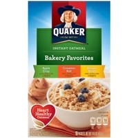Quaker Instant Oatmeal Bakery Favorites - Apple Crisp, Cinnamon Roll, Banana Bread Flavor Packets Food Product Image