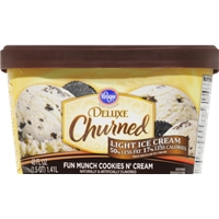Kroger Deluxe Churned Cookies & Cream Light Ice Cream Food Product Image
