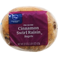 Kroger Cinnamon Raisin Swirl Bagels Food Product Image