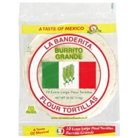 La Banderita Burrito Grande Extra Large Flour Tortillas - 10 CT Food Product Image