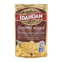 Idahoan Loaded Baked Flavored Mashed Potatoes Food Product Image