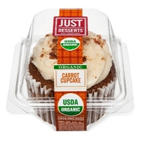 Just Desserts Organic Carrot Cake Cupcake 4.1 oz Food Product Image