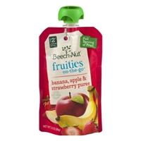 Beech-Nut Fruities On-The-Go Banana, Apple & Strawberry Puree Stage 2 Food Product Image