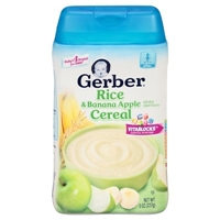 Gerber Rice and Banana Apple Cereal - 8oz Food Product Image