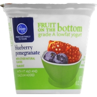 Kroger Fruit on the Bottom Blueberry Pomegranate Yogurt Food Product Image