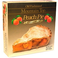 Mountain Top Old Fashioned Peach Pie Food Product Image
