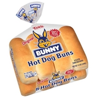 Bunny Hot Dog Buns Original Food Product Image