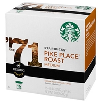 Starbucks Pike Place Roast Coffee K-Cup pods 16ct Food Product Image