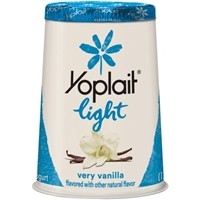 Yoplait Light Fat Free Yogurt Very Vanilla Food Product Image