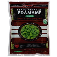 Seapoint Farms Organic Edamame Shelled Soybeans Food Product Image