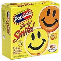 Popsicle Sherbet Smile Ice Bars Food Product Image