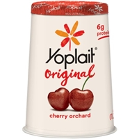 Yoplait Original Low Fat Yogurt Cherry Orchard Food Product Image