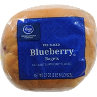 Kroger Blueberry Bagels Food Product Image