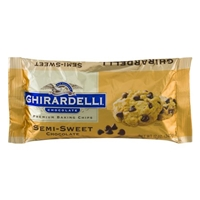 Ghirardelli Chocolate Premium Baking Chips Semi-Sweet Chocolate Food Product Image