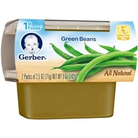 Gerber Nature Select 1St Foods Green Beans - 2Ct Food Product Image