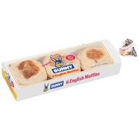 Bunny Original English Muffins 6 ct Bag Food Product Image