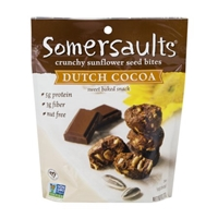 Somersaults Crunchy Sunflower Seed Bites Dutch Cocoa Food Product Image