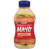 Kraft Hot & Spicy Flavored Mayonnaise Squeeze Bottle 12 oz Food Product Image