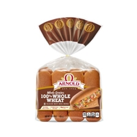 Arnold Select 100% Whole Wheat Hot Dog Rolls - 8 CT Food Product Image