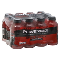 Powerade Fruit Punch Flavor Sports Drink 12 pk Food Product Image