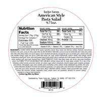 9.75 Taylor Farms American Pasta Salad Round Toss Up Food Product Image
