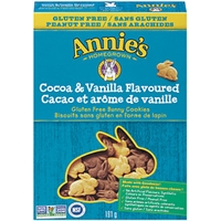 Annie's Homegrown Bunny Cookies Gluten Free Canadian Cocoa & Vanilla Bunny Cookies Gluten Free Food Product Image