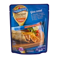 Progresso Recipe Starters Creamy Three Cheese Cooking Sauce Cheesy Chicken Burritos Food Product Image