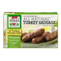 Jones Dairy Farm All Natural Turkey Sauasage Fully Cooked - 10 CT Food Product Image