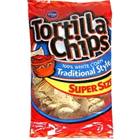 Kroger Tortilla Chips Traditional Style, 100% White Corn Food Product Image