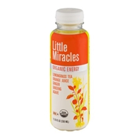 Little Miracles Organic Energy Lemongrass Tea Orange Juice Ginger Ginseng Agave Food Product Image