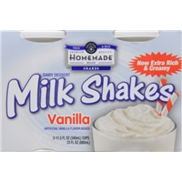 Homemade Vanilla Milk Shakes Food Product Image
