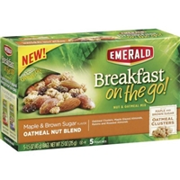 Emerald Breakfast On The Go! Maple & Brown Sugar Oatmeal Nut Mix - 5 Pk Food Product Image