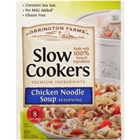 Orrington Farms Slow Cookers Seasoning Chicken Noodle Soup Food Product Image