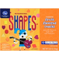 Kroger Shapes Fruit Snacks Food Product Image